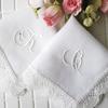 花嫁用イニシャル刺繍レースハンカチ